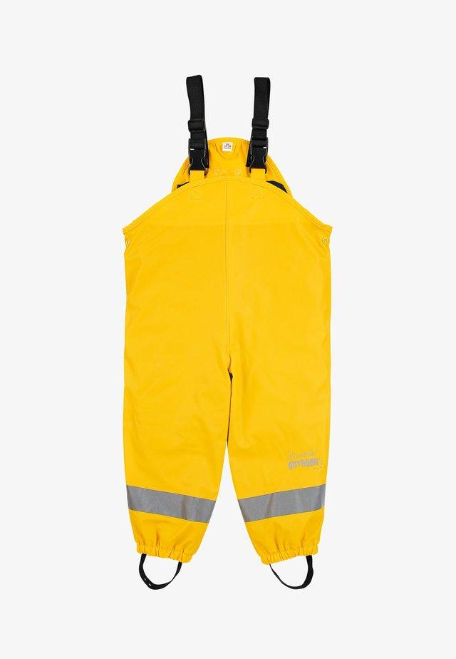 REGENTRÄGERHOSE GEFÜTTERT - Rain trousers - gelb