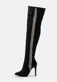 BEBO - LEOMIE - Kozačky na vysokém podpatku - black - 1