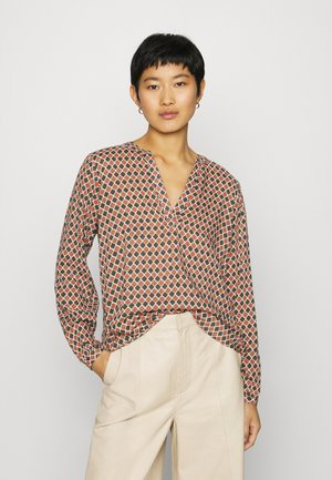 KASARY TILLY BLOUSE - Langærmede T-shirts - grape leafdiamond