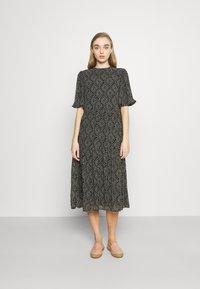 ONLY - ONLNINA MIDI DRESS - Day dress - black/graphic - 0
