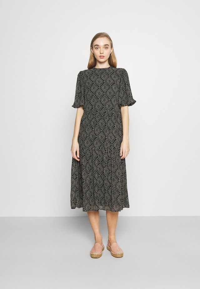 ONLNINA MIDI DRESS - Day dress - black/graphic
