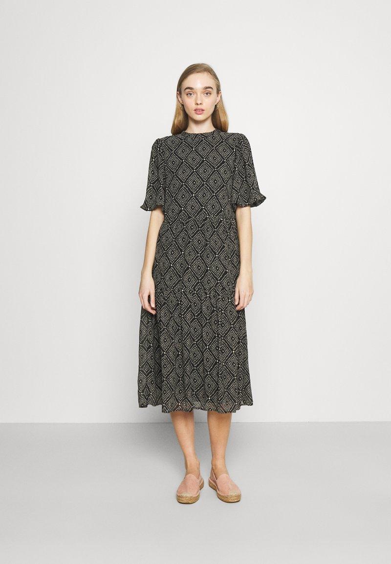 ONLY - ONLNINA MIDI DRESS - Day dress - black/graphic