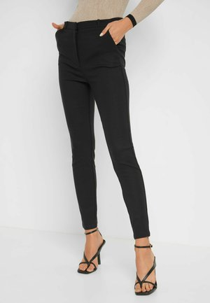 HIGH WAIST - Trousers - schwarz