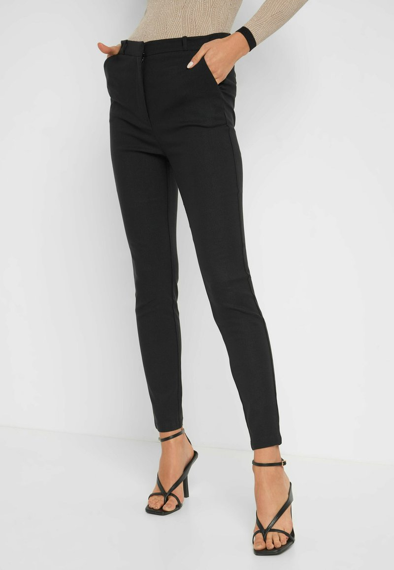 ORSAY - HIGH WAIST - Trousers - schwarz
