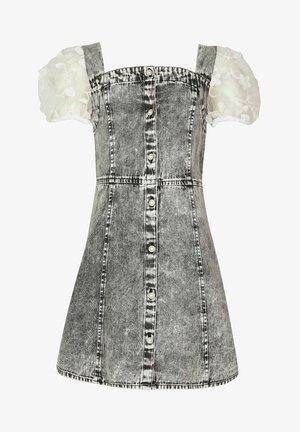 PINNY ORGANZA SLEEVE - Denim dress - grey