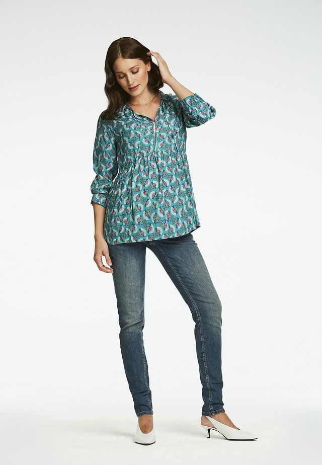 Blouse - teal blue