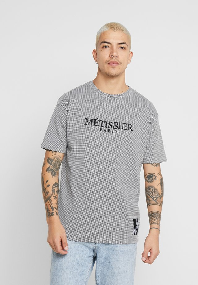 METISSIER ROSARIO CHECK - Camiseta estampada - grey