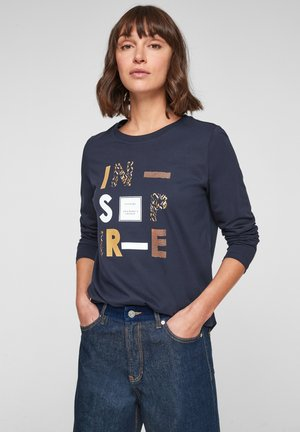 MIT WORDING - Long sleeved top - dark blue statement print