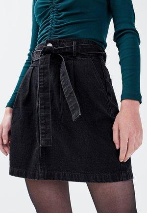 Denim skirt - noir
