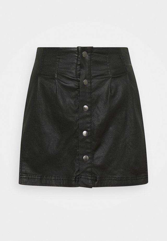 SIDE CURVE SEAMED  SKIRT - Mini skirt - black