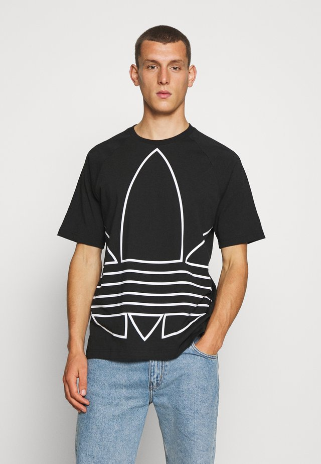 OUT TEE - T-shirt con stampa - black/white