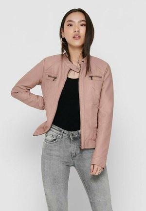 BANDIT - Faux leather jacket - adobe rose