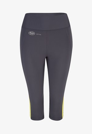 CAPRI  FITNESS - 3/4 sports trousers - gelb / anthrazit