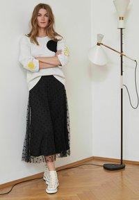 Oui - A-line skirt - black - 4