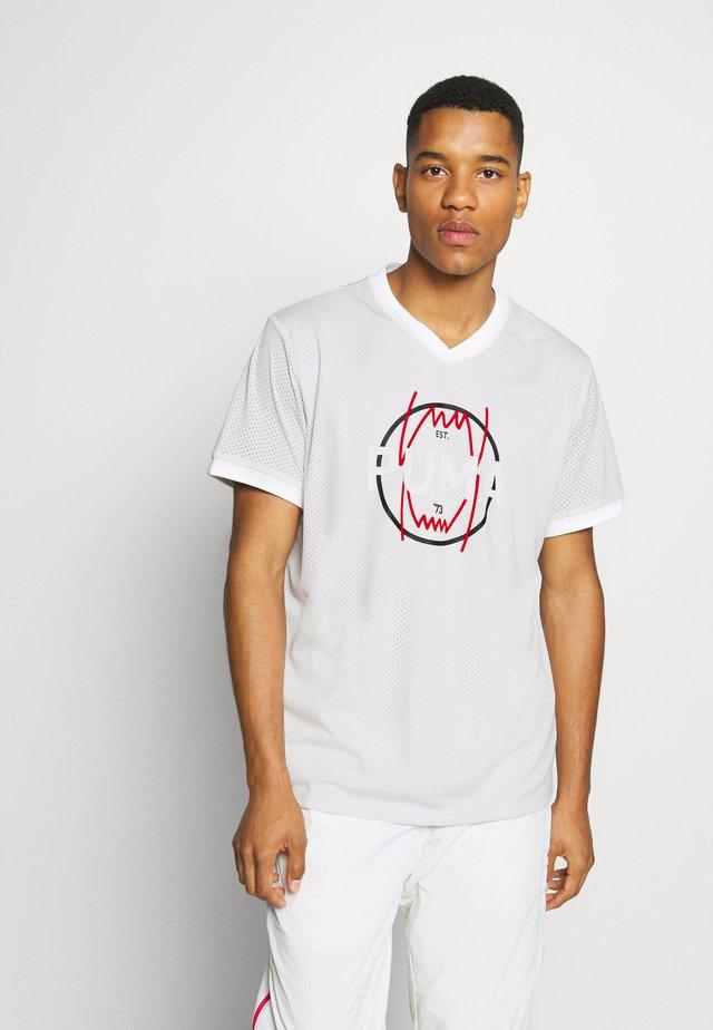 PARQUET VINTAGE - Print T-shirt - vaporous gray