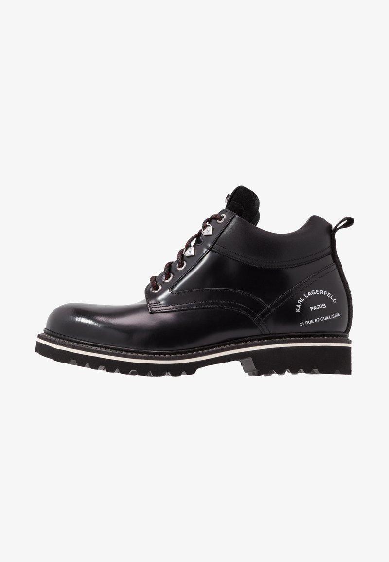 KARL LAGERFELD - TERRA MID LACE BOOT - Šněrovací kotníkové boty - black