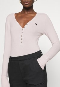 Abercrombie & Fitch - COZY HENLEY - Pullover - light pink - 5