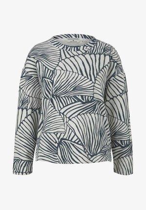 Sweatshirt - white blue line design