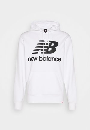 ESSENTIALS STACKED LOGO PO HOODIE - Hoodie - white