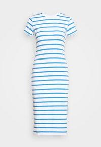 Polo Ralph Lauren - PIMA - Žerzejové šaty - white/rivera blu - 5