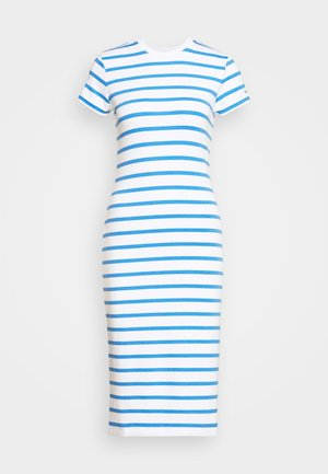 PIMA - Jersey dress - white/rivera blu