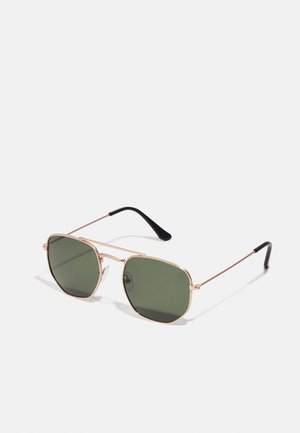JOHN - Lunettes de soleil - gold-coloured/green