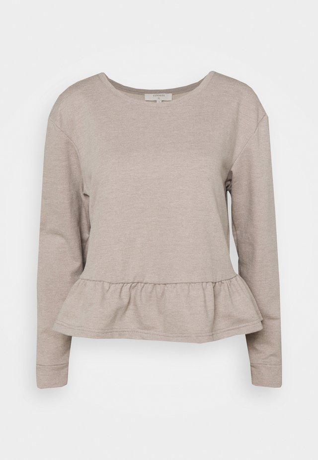 Sweatshirt - silver mink