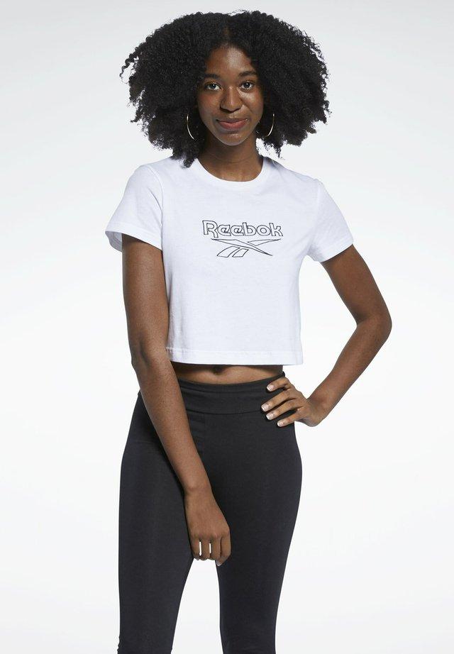 CLASSICS FOUNDATION BIG - T-shirt imprimé - white