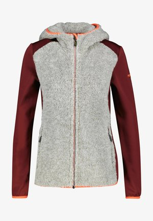 MIT KAPUZE SELAWIK - Fleece jacket - dunkelrot