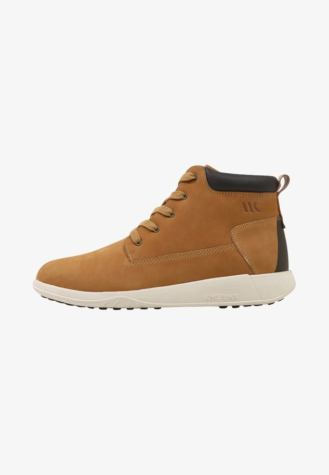 WINTER HOUSTON - Sneaker high - yellow/dark brown