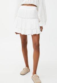 PULL&BEAR - Mini skirt - off-white - 0