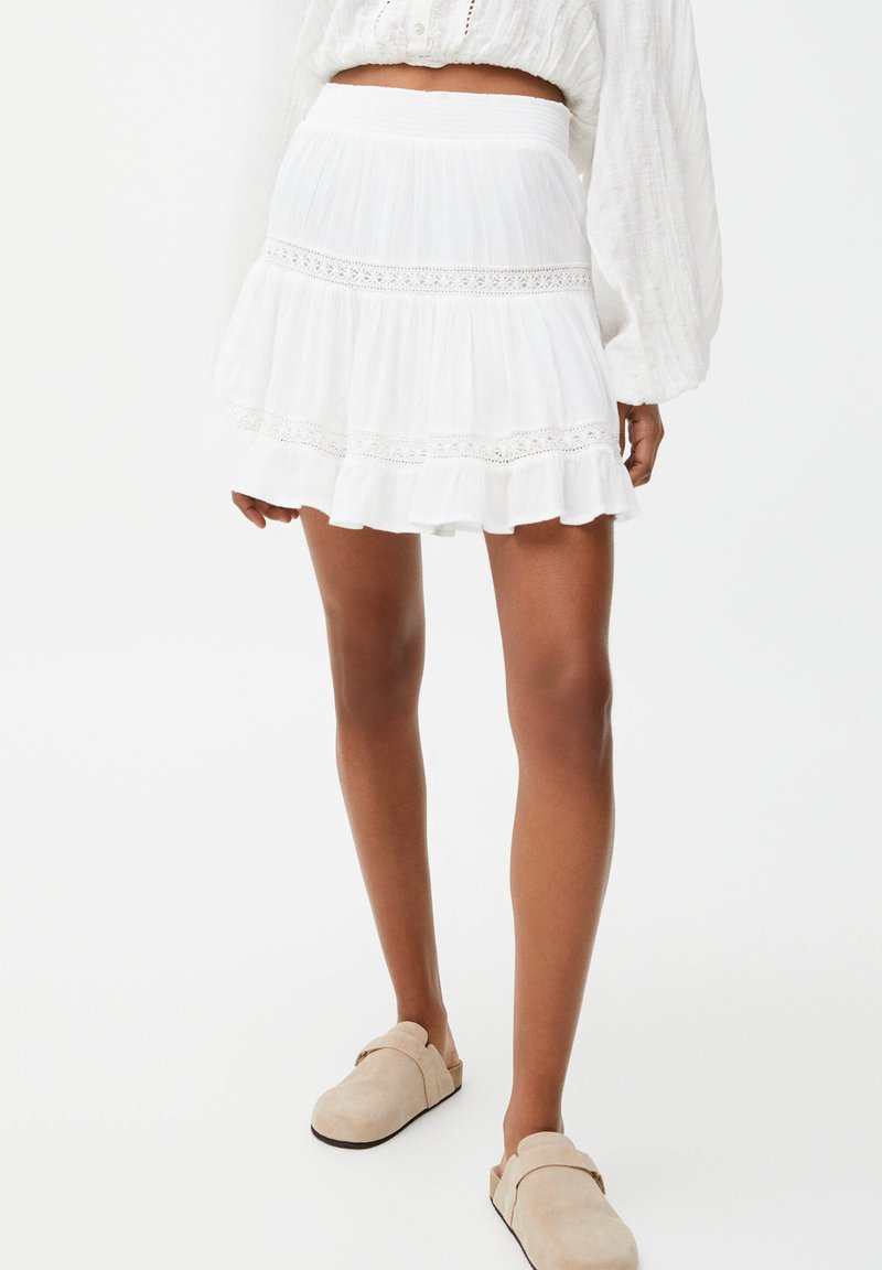 PULL&BEAR - Mini skirt - off-white
