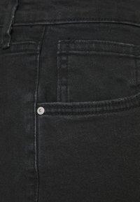 Cotton On Curve - MOM HIGH WAIST - Shorts di jeans - midnight black - 6