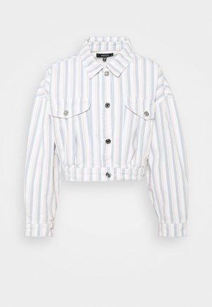 BOXY STRIPE JACKET - Denim jacket - blue