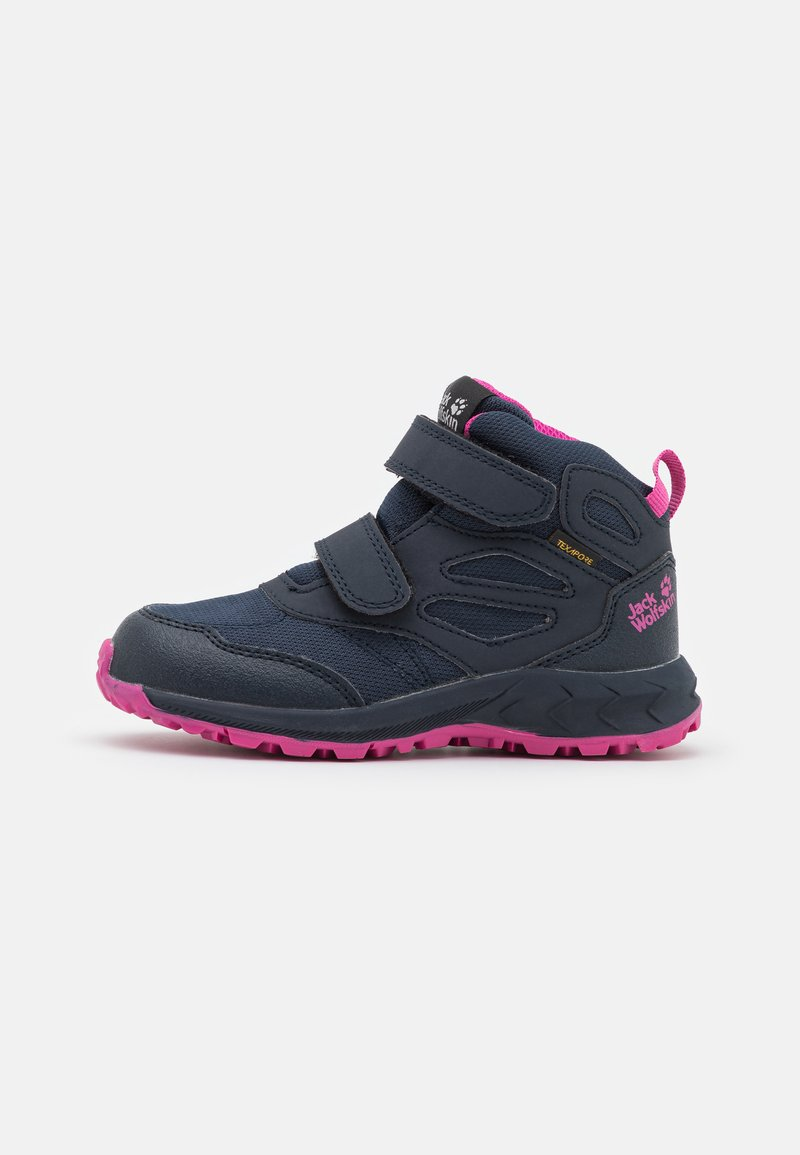 Jack Wolfskin - WOODLAND TEXAPORE MID UNISEX - Hiking shoes - blue/pink