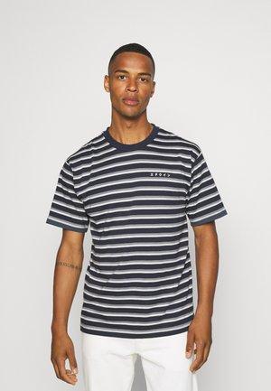 QUARTER UNISEX - Print T-shirt - dark blue/grey