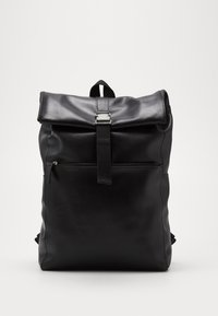 Pier One - UNISEX LEATHER - Rucksack - black - 0