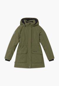 TrollKids - GIRLS ALESUND COAT - Down coat - khaki green - 0