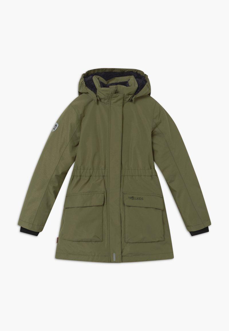 TrollKids - GIRLS ALESUND COAT - Down coat - khaki green