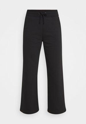 WIDE LEG - Pantalones deportivos - black