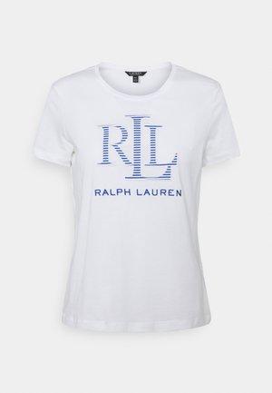 KATLIN SHORT SLEEVE - T-shirt z nadrukiem - white