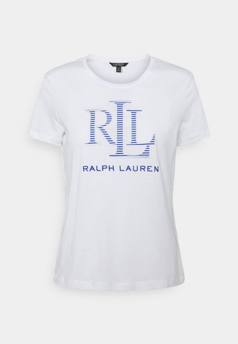 Lauren Ralph Lauren Petite - KATLIN SHORT SLEEVE - Print T-shirt - white