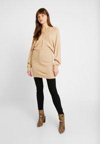Even&Odd - Jumper dress - beige - 1