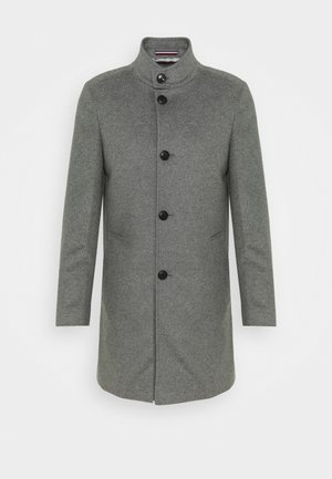 SOLID STAND UP COLLAR COAT - Classic coat - grey