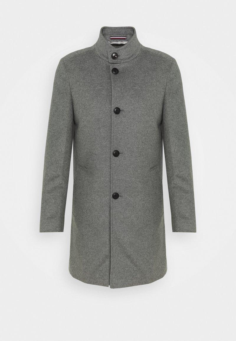 Tommy Hilfiger Tailored - SOLID STAND UP COLLAR COAT - Klassinen takki - grey