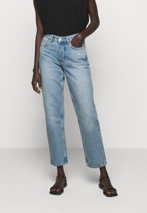 PEARL  - Džíny Straight Fit - distressed blue
