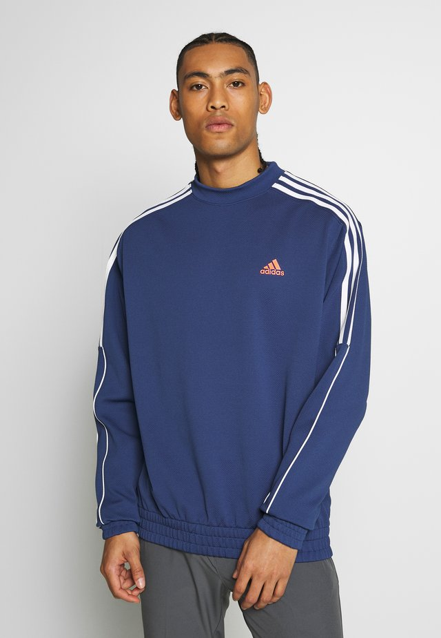 STRIPE COLLECTION DOBBY CREW - Sweater - tech indigo