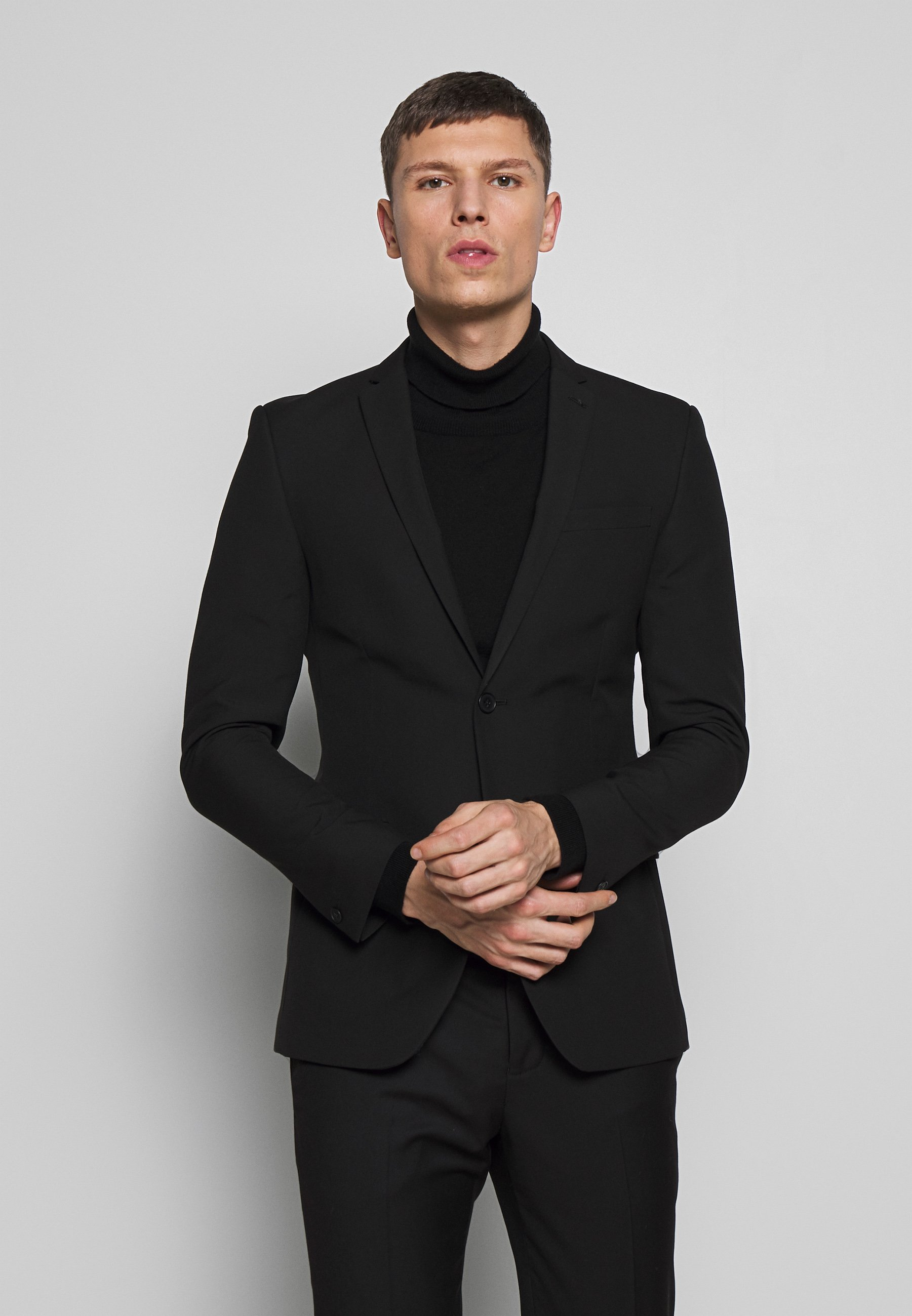 Best Buy Miesten vaatteet Sarja dfKJIUp97454sfGHYHD Limehaus SUIT SLIM FIT Puku black