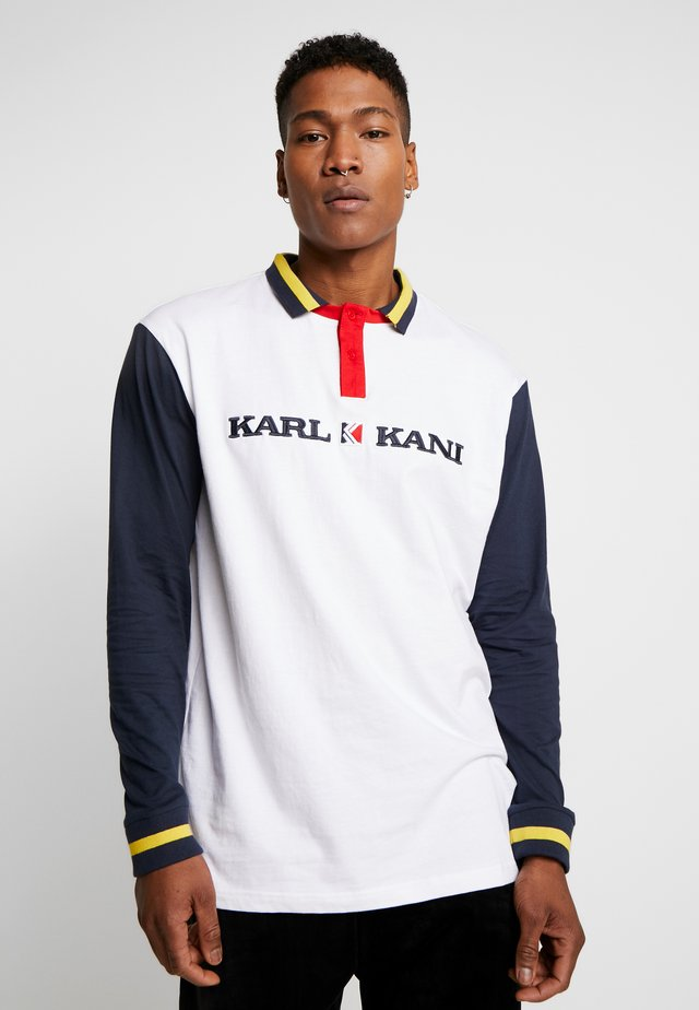 RETRO BLOCK RUGBY  - Polo - white/navy/red