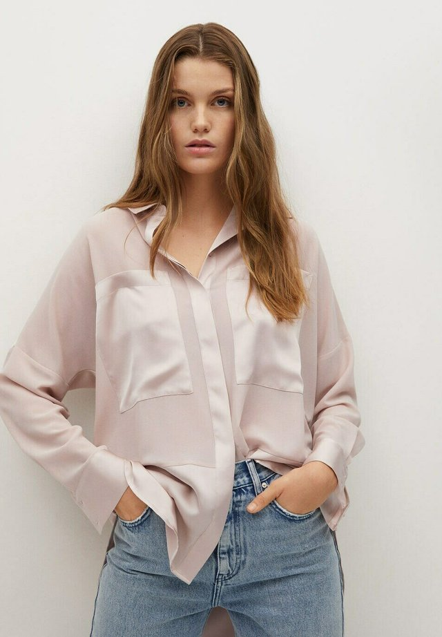 BIMAO - Button-down blouse - rose pastel